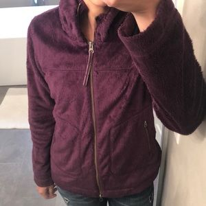 Athleta teddy bear zip-up jacket in purple